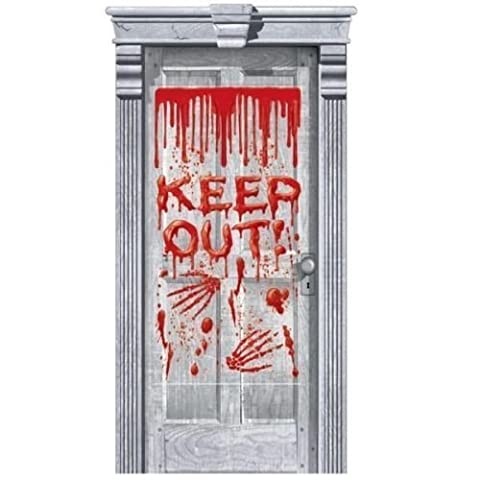 Halloween Door Gore Keep Out Dripping Blood Decoration