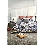 D'Decor Cotton 180TC Double Bedsheet with 2 Pillow Covers - Floral, Orange