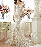 HAPPYMOOD Vestito da sposa Lungo Matrimonio elegante femminile Party serale fancydress Abito in tulle Abito da sposa , us10