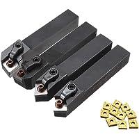 RFElettronica, Lot de 4 barres MCMNN1616H12 MCGNR1616H12 MCMNN1616H12 MCGNL1616K12 porte-outils pour tour avec outils en…
