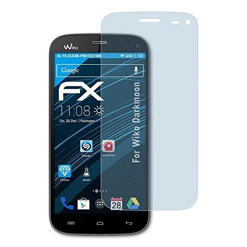 atFolix Schutzfolie kompatibel mit Wiko Darkmoon Folie, ultraklare FX Bildschirmschutzfolie (3X)