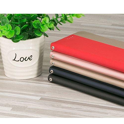 AVIDET iPhone 8 / iPhone8 Hülle - Hochwertiges PU Leder Etui Tasche für iPhone 8 / iPhone8 (Schwarz) Gold