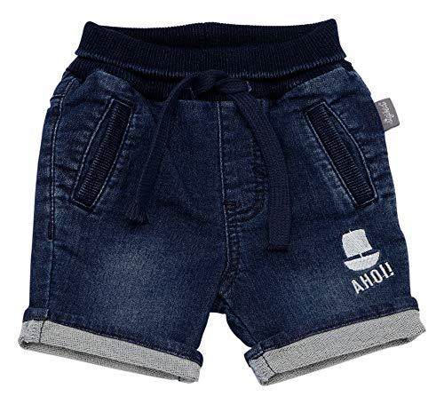Sigikid Baby - Jungen Jeans Bermuda, Baby Shorts, per Pack Blau (Indigo 212), 92 (Herstellergröße: 92)