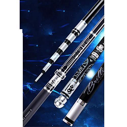 ZDDT Angelrute Hand ultraleichte Stange superharten 28 Tune Karpfen Taiwan Angelrute Carbonstange 19 Tone,A,5.7M