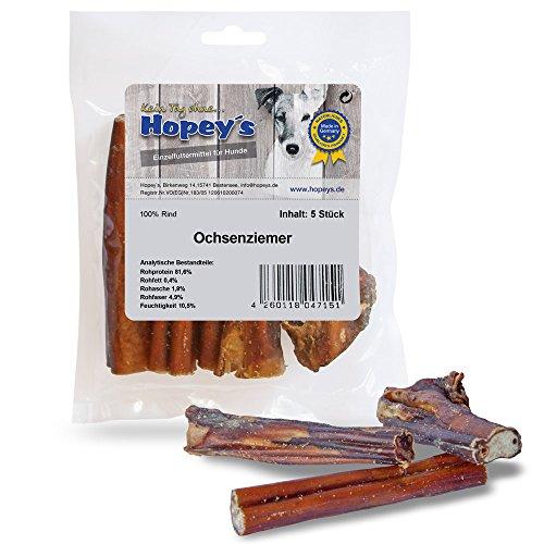 hopey 's Buey ziemer, kausnack Natural para perros, 5unidades aprox. 12cm