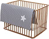 Fillikid Sichtschutzmatte Kinderspielplatz Softy Gray White Star