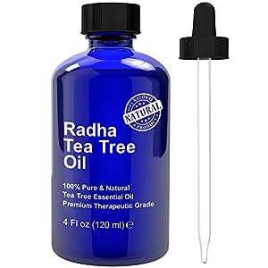 Tea Tree Essential Oil - Big 4 oz - 100% Pure & Natural Melaleuca Therapeutic Grade - PREMIUM QUALITY from Australia for acne and skin tag removal