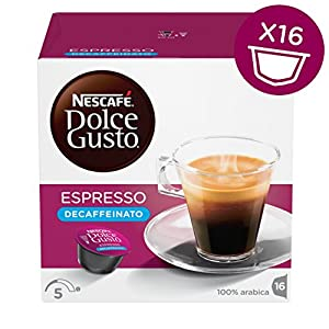 Buy Nescafe Dolce Gusto Espresso Decaf Coffee, Pack of 3 (Total 48 Capsules, 48 servings) from Nestle UK