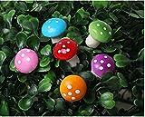 NiceButy 60PCS Miniatur Bunte Pilz Fee Garten