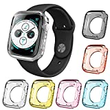 AFUNTA - 6 Piezas de Carcasa Protectora de Pantalla para Apple Watch Series 4, 40 mm Todo Alrededor de TPU Parachoques Impermeable Cubierta Compatible con iWatch Series 4 – 6 Colores