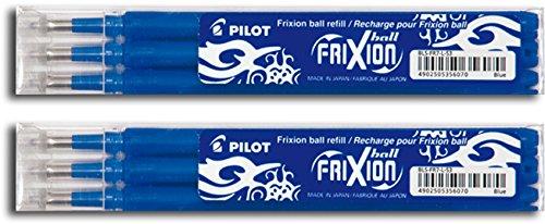 Pilot Frixion Tintenroller-Ersatzminen radierbar (6 Ersatzminen)