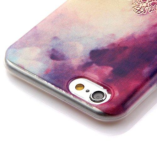 Coque en Silicone pour iPhone 6 plus, iPhone 6 plus Coque Etui Housse, iPhone 6s plus Coque Etui Portefeuille, iPhone 6 plus Silicone Case Cover, Ultra Mince Coque de Protection en Silicone et TPU pou Couronne Symphony
