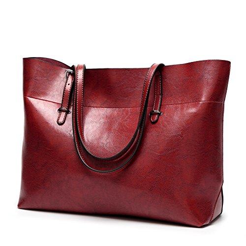 hohe Taschen Damen Schulter Damen Handtasche Claret Fashion Handtaschen Kapazität Style UwETAq