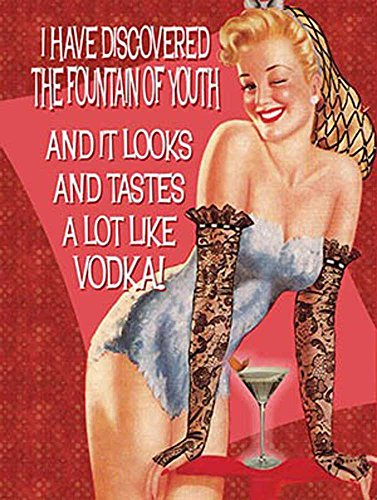 retro-humour-fountain-of-the-youth-vintage-affiche-metallique-avec-taille-15-x-20-cm