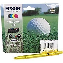Multipack de 4 cartouches pour imprimantes Epson Workforce Pro WF-3720 WF-3725 Noir cyan jaune magenta