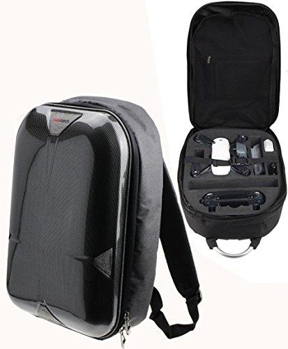 Navitech Grau Rucksack / Koffer / Reisetasche / Tasche für DJI Spark Drohne