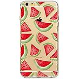 MUTOUREN Neue Modelle TPU Silikon Schutz Handy Hülle Case Tasche Etui Bumper für Apple iPhone 6/6S - rote watermelon
