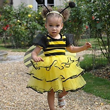 Mädchen Bumble Kostüme Bee (Mädchen Kleinkinder Bumble Bee Kostüm 18-24)