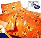 Disney By Caleffi Completo Copripiumino Pooh Fantasy Arancione singolo