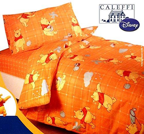 Completo Copripiumino Caleffi Disney.Disney By Caleffi Completo Copripiumino Pooh Fantasy Arancione Singolo