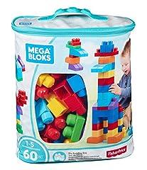 Idea Regalo - Mega Bloks DCH55 Sacca Ecologica Blu 60 Pezzi