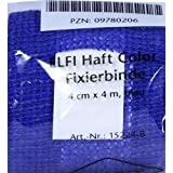 DRACOELFI haft color Fixierbinde 4mx4cm blau 1 St