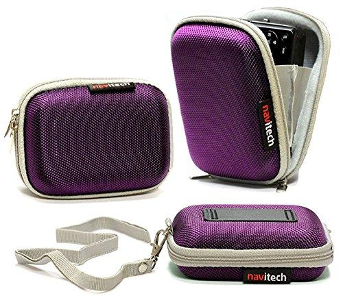 Preisvergleich Produktbild Navitech Lila Wasser Wiederständige Harte Digital Kamera Tasche für das Sony Alpha 6000 Systemkamera