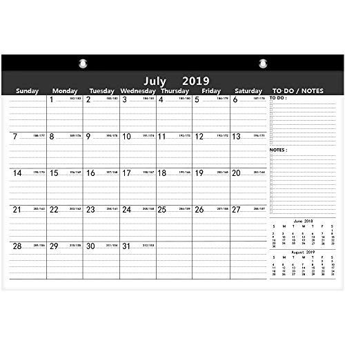 Ankuka Home planner calendario con design colorato per calendario da parete 2019, Daily planner accademico calendario planner per scuola, ufficio, casa (42 x 30 cm)