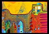 Kunstkarte Friedensreich HundertwasserZwolle