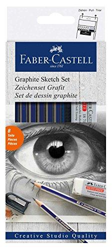 Faber-Castell 114000 Graphite Sketch Set Goldfaber, 8 teilig
