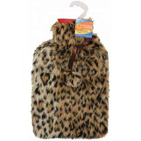 Hot Water Bottle with Animal Print Cover