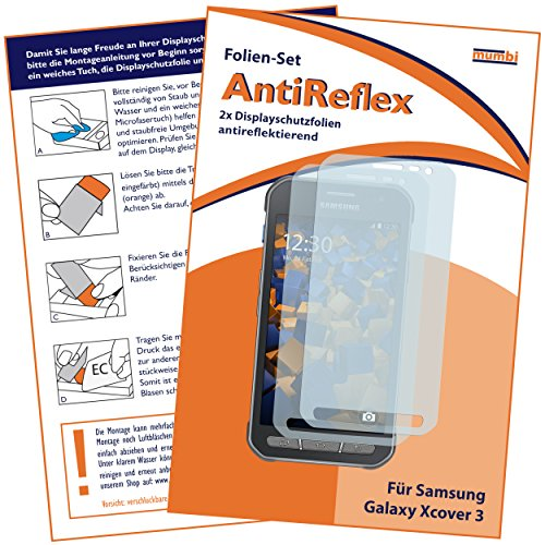 mumbi Schutzfolie kompatibel mit Samsung Galaxy Xcover 3 Folie matt, Bildschirmschutzfolie (2x)
