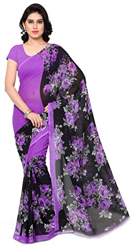 Anand Sarees Georgette Saree with Blouse Piece (1152_4_Multicoloured_Free size)