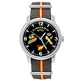 Reloj Guardia Civil Q&Q Correa Bandera España Verde Esfera Negra