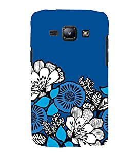 FUSON Seamless Pattern Blue Decorative 3D Hard Polycarbonate Designer Back Case Cover for Samsung Galaxy J1 (6) 2016 :: Samsung Galaxy J1 2016 Duos :: Samsung Galaxy J1 2016 J120F :: Samsung Galaxy Express 3 J120A :: Samsung Galaxy J1 2016 J120H J120M J120M J120T
