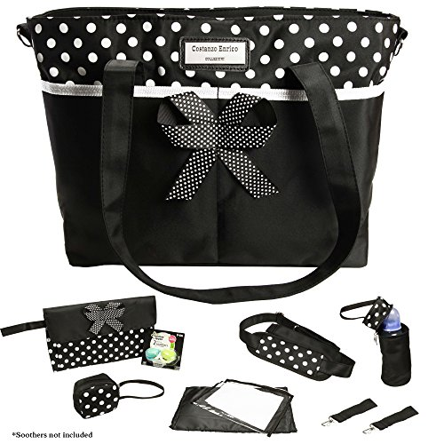 Preisvergleich Produktbild Designer Baby Windel Windelwechsel Tasche, 8PC Set Costanzo Enrico ® Bellagio