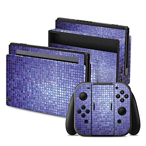Nintendo Switch Folie Skin Sticker aus Vinyl-Folie Aufkleber Mosaik Steine Muster