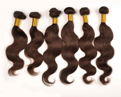 Lot de 3 trames d'extensions de cheveux péruviens 100 % naturels de tailles différentes 3 x 100 g 35 cm 40 cm 45 cm