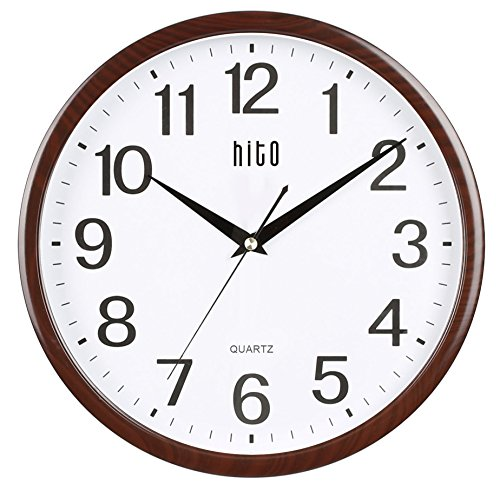 hito-silent-non-ticking-wall-clock-glass-cover-12-inches-wood