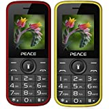 Peace P3 Red Black+ P3 Yellow COMBO OF TWO Mobile Phones With 1.8 Inch, Dual Sim, 850 MAh Battery, Wireless FM, Bluetooth, Digitel Camera, Call Recording, MP4, Internet & 1 Year Warranty