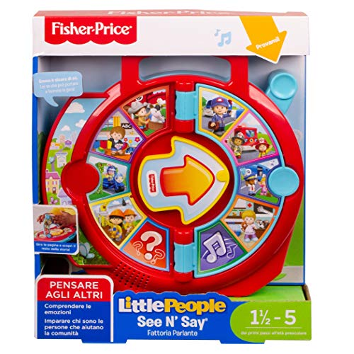 Fisher-Price FXJ70 Little People See 'N Say Fattoria Parlante Giocattolo Educativo per Imparare a Parlare per Bambini di 18+ Mesi