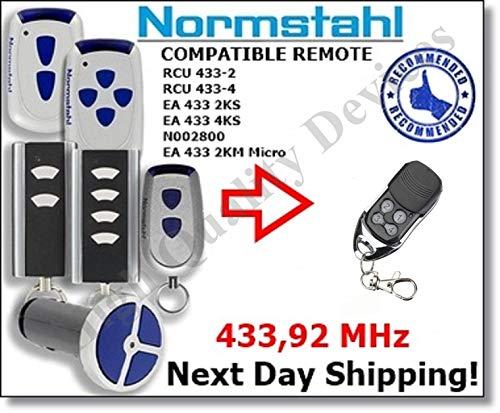 Normstahl Reemplazo De Control Remoto Compatible Normstahl EA433 2KS, EA433  4KS, EA433 3KM, RCU433-2, RCU433-4, N002800 Rolling Code 433,92 MHz