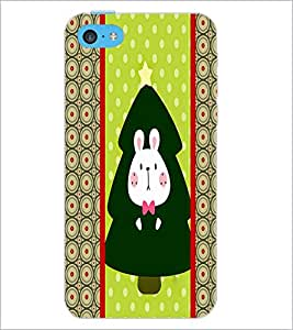 PrintDhaba Bunny D-3815 Back Case Cover for APPLE IPHONE 5C (Multi-Coloured)
