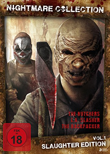 Nightmare Collection Vol. 1 - Slaughter Edition l 3 Horror Filme [3 DVDs]