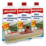 3er Pack Mellerud Algen und Grünbelag Entferner (3 x 2 Liter) inkl. Schrubber