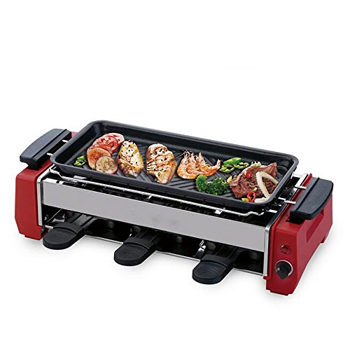 Caldaia Portatile per Barbecue con Piastra Teppanyaki, Antiaderente, Temperatura Regolabile 900W