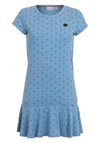 Naketano Female Dress Auf Detlef caktir II Light Blue Melange