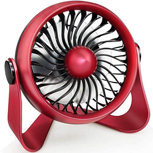 ter, 360-Grad-Lüfter Für Studenten Tragbarer Mini-Desktop-Lüfter Mit 4-Stufigem Desktop-Lüfter Der Über USB Oder Einen Wiederaufladbaren Akku Betrieben Wird ()