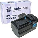 Trade de Shop Premium Batería de ion de litio, 36V/4500mAh para Hilti TE6A, TE6de A36, TE6de A36AVR, TE6de Ali, TE7A, TE de 30A36, CPC 36V, WSR de 36a, WSC 7.25de A36, WSC 7.25de a, WSC 70de A36sustituye B36, B36V, B36/3.9, 2203932, 418009