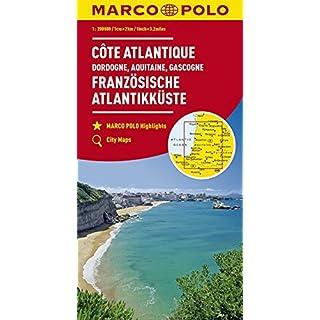 MARCO POLO Karte Frankreich Französische Atlantikküste 1:300 000: Dordogne, Aquitaine, Gascogne: Wegenkaart 1:300 000 (MARCO POLO Karten 1:300.000)